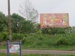 Avana Villa signage across from billboard