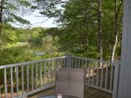 Deck overlooking the pond.