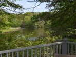 View of the pond from the deck.