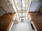 Drop chandelier in lounge - 2nd level