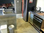 Underbench dishwasher, family size fridge 4 burner cooktop and rangehood (not shown)