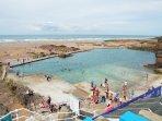 Bude free beach swimming pool