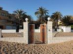entrada a playa privada