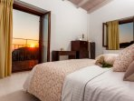 The bedrooms enjoy views to the west coast of the Zakynthos and beautiful sunset vistas