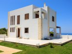 Stone-built luxurious villa with amazing views to the azure Ionian Sea