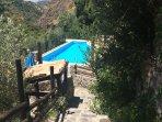 piscina (compartida con otras dos casitas)