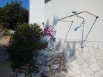 Villa Marela, outside shower.