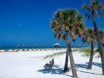 Clearwater white sandy beach