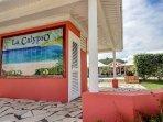 Entrée de la villa la calypso