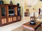 The family room with TV cabinet