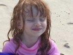 Happy Girl at Magic Sands Beach