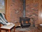 Wood burning stove.