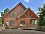 Heavenly View is a one bedroom cabin with fireplace and bedside Jacuzzi.