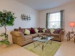 Formal living room , sit back and relax on this really comfortable sofa after a long day out