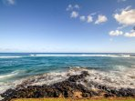 The ocean is just steps away at this Koloa vacation rental condo!