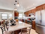 This updated kitchen comes fully equipped with all the necessary appliances and granite countertops.