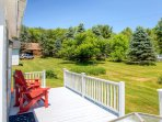 Admire the dazzling scenery on the furnished private porch