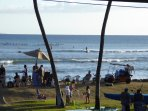 Family fun along with water sports take place daily at the cove.  Fun to watch from the lanai!