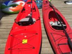 Two higher-end quality kayaks and paddles available to our guests.  Explore 43 miles of shoreline.