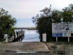 Boat ramp at end of block