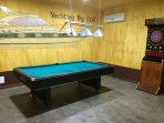 Pool table in Sports Bar.