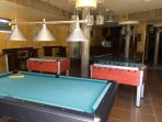 Pool, table tennis and table football in Sports Bar.