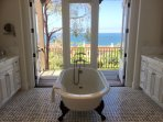 Master Bathroom with balcony and ocean view.