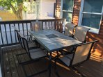 Enjoy your meal around this new patio table!