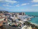 Vue mer et rocher de Monaco