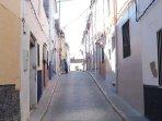 Narrow Moorish street in Old Town Oliva