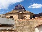 San Roc church domes. On San Roc square you can visit La Placa bar for tapas