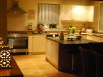 Island unit in kitchen