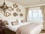 Golden Sands bedroom with sea views