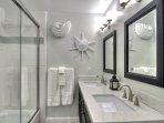 Shared bathroom for double queen bedroom