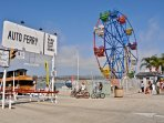 Balboa Island Ferry and Balboa Fun zone.