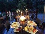 Dine al fresco on the terrace