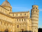 The Leaning Tower of Pisa can be reached in just over 30 minutes