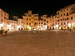 The charming city of Lucca is just 45 minutes away