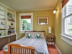 Retire to this inviting bedroom after a long day.