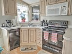 Prepare delicious meals in the fully-equipped kitchen.