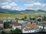 vistas del pueblo desde la sierra