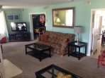 1st floor livingroom #1 with pullout couch. Pictured in spring 2016.