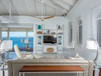 living area w/ Caribbean Sea