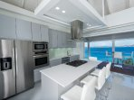 kitchen with view of Caribbean Sea and St. Thomas