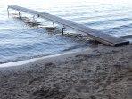 Our private community beach swim pier