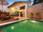 Outdoor Kitchen and Dining overlooks your Private Pool