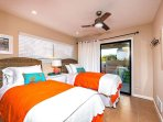 Second BR with twin beds, great ceiling fan