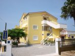 New, modern apartment with great view only 50 m from the beach Bošana. Private parking secured.