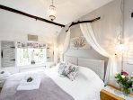 Spacious Super King Bedroom overlooks the garden