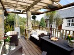 A heated decking area for relaxing and sundowners!